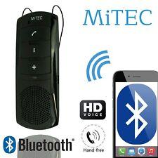 Wireless Bluetooth Car Kit Handsfree Transmitter Dual Mobile Speaker Visor Mitek