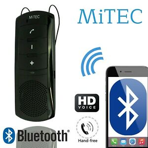 Wireless Bluetooth Car Kit Handsfree Transmitter Dual Mobile Speaker Visor Mitek
