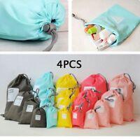 4PCs Drawstring Travel Luggage Organizer Packing Storage Bag Waterproof Case Box