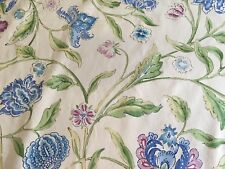 Brunschwig & Fils Floral Fabric- Indian Summer Cotton Print / Amethyst 0.70 yd