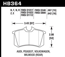 Hawk Disc Brake Pad Rear for 85-14 Jetta / Fluence / Beetle / Scenic / A4 / A6