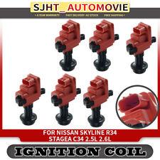 6x Ignition Coil Pack for Nissan Skyline R34 Stagea C34 1996-2002 RB25DE RB25DET