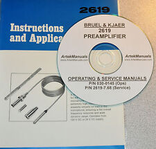 Bruel & Kjaer 2619 Preamplifier  Manual , OPERATING & SERVICE WITH SCHEMATICS