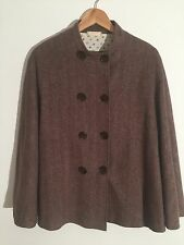 Cape Laine Vierge Brown Herringbone s'adaptera UK 10 - 14-Excellent état