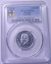Monaco 1000 Francs 1974 Platnium PCGS SP68 Scarce coin
