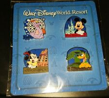 Disney Pins Resort / Park Set 4 Pin Booster Figment Mickey Minnie Pluto