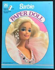 Barbie Puppe Buch, Whitman 1991, Uncut, 4 Seiten Kleidung, Bühne
