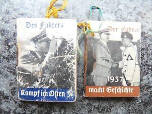 Winterhilfswerk des Deutschen Volkes 2 Miniheftchen 3,5x4,8 cm - 2.WK