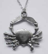 Chain Necklace Pewter ZODIAC #1526 CANCER (Jun 22 - July 22) 18mm x 27mm