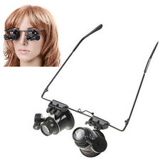 20X Magnifying Glasses 2 LED Light Head Mounted Magnifier for Electronics Repair
