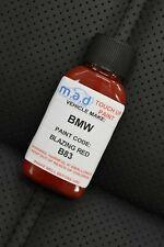 BLAZING RED B83 TOUCH UP KIT BMW MINI JOHN COOPER BOTTLE BRUSH REPAIR PAINT CHIP