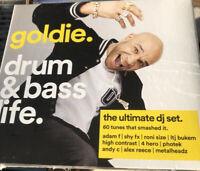 GOLDIE DRUM & BASS LIFE 4 DISC CD ALBUM - - NEW AND SEALED HIP HOP RAP JUNGLE