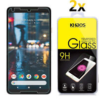 2-Pack Khaos For Google Pixel 2 XL Tempered Glass Screen Protector