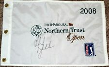Phil MICKELSON Signed 2008 Northern Trust Flag -  COA - Embroidered