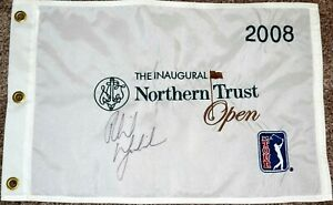 Phil MICKELSON Signed 2008 Northern Trust Flag -  GENESIS - Embroidered PSA/DNA