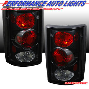 Set of Pair Black Taillights for 1995-2006 Ford Econoline Van and Excursion