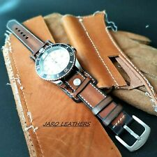 Bund Fixed Lugs Vintage Wristwatch Bundle with aviation strap