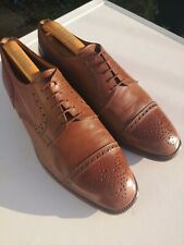 Mens BALLY 100% Leather, Brown Lace-up Oxford Brogues UK 10.5 (44.5)