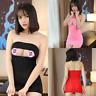 Lady Sexy Mini Dress Open Bust Bodycon Dress See Through Leopard Clubwear