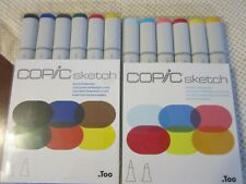 (2) COPIC SKETCH MARKER SETS -PERFECT-BOLD LOT OF 2 SETS 12 MARKERS TOTAL