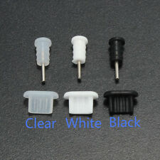10Pcs 3.5mm Earphone Jack + Micro USB Cell Phone Port Cover Cap Dust Protector