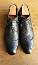 Paul Smith 'Miller' Black Classic Oxford Brogue Shoes - Size UK9 (10)