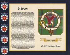 """U.S.A. Tartan & il tuo cognome STORIA STAMPA 10"""" x 8"""" & Free Regalo Nuovo Designs"""