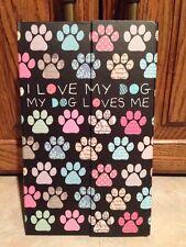 """NEW Cute """"I Love My Dog"""" Sticky Note/Notepads Set"""