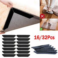16/32x Reusable Rug Carpet Mat Grippers Anti Slip Rubber Grip Skid Tape Healthy