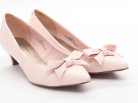 Marks & Spencer Womens UK Size 3 Pink Bow Court Shoes