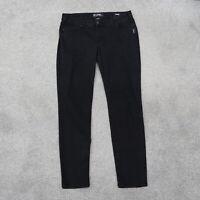 Silver Suki Mid Rise Super Skinny Black Jeans Womens Size 34x31