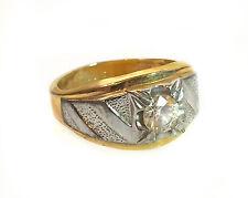 Vintage 14K Gold Plated Men's Ring Signed HGE LIND Size 13