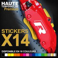 Stickers autocollants adhésifs pour étrier de frein - R-LINE VW VOLKSWAGEN
