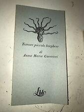 TERRORE PICCOLO BORGHESE, DI ANNA MARIA GUERRIERI - FMR, LA BIBLIOTECA BLU, 1973