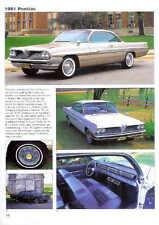 1961 Pontiac Article - Must See !! Bonneville Ventura Catalina NASCAR