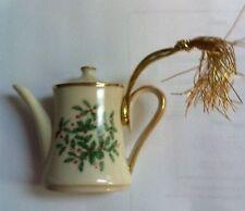 Coffee Pot - Lenox Christmas Ornament