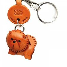 Chow Chow Handmade 3D Leather Dog Key chain ring *VANCA* Made in Japan #56718