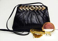 Judith Leiber Original Vintage Jeweled Reptile Shoulder/Clutch Bag !