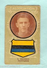 1930s AUSTRALIAN LICORICE FOOTBALLERS CARD - L. JOHNSON, SANDRINGHAM