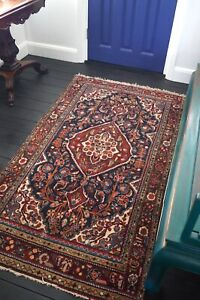 Antique Vintage Rug Handmade Lillihan Wool Rug Circa 1950s - 200cm x 107cm