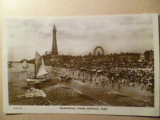1921 Used Postcard- BLACKPOOL FROM CENTRAL PIER,Lancashire, No.82245 JV +STAMP
