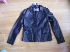 ladies polyurethane leather look internacionale blazer coat/jacket size 12 nwt