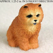 Chow Chow Mini Resin Dog Figurine Statue Hand Painted Red