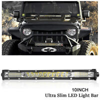 10inch Spot Flood Combo LED Light Bar Slim Offroad SUV 4WD Truck ATV Work Lamp