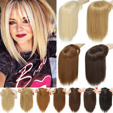 NEW 11'' Lady Hair Topper Real One Piece Full Head Clip In Hair Extensions Brown