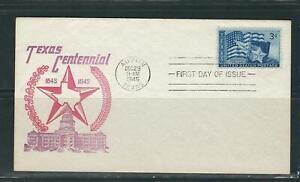 US SC # 938 Texas Centennial FDC.Cacheted Cover