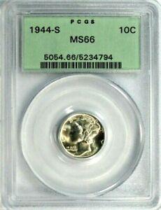 "1944-S Mercury Dime PCGS MS-66 ""Old Green Holder""  #GA1-94"