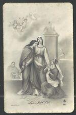 Postal antigua de Santa Dorotea santino holy card image pieuse