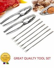 A04 Seafood Tool Set Lobster & Crab Cracker Tool Set 8PCS Forks Nut New In Box