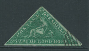 CAPE OF GOOD HOPE 1/- green is a Spiro forgery useful for reference.